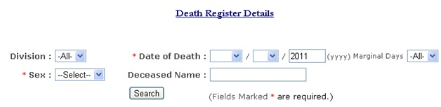 Death Register Vijaywada