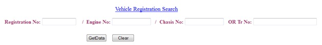 Vehicle Registration Search