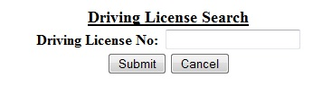 Driving License Search